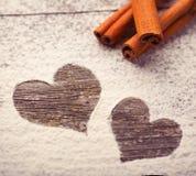 Cynamonowa miłość Zdjęcia Stock