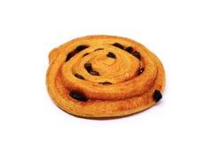 Cynamonowa rodzynki chlebowa rolka Fotografia Royalty Free
