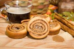 cynamonowa roll kawowa Zdjęcie Stock