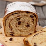 Cynamonowy rodzynka chleb Obrazy Royalty Free