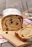 Cynamonowy rodzynka chleb Zdjęcie Stock