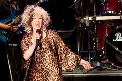 Cyndi Lauper Live Performance Stock Image