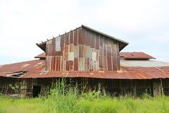 Cynkowego ściennego ośniedziałego panwiowego metalu Thailand domu gnicia antyczna natura zdjęcie royalty free