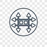 Cynkowego pojęcia wektorowa liniowa ikona odizolowywająca na przejrzystym backgrou royalty ilustracja
