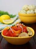 cynowani sałatek warzywa obraz stock