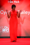 Cynthia Bailey walks the runway at the Go Red For Women Red Dress Collection 2015 Stock Images