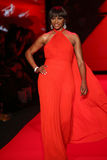 Cynthia Bailey walks the runway at the Go Red For Women Red Dress Collection 2015 Royalty Free Stock Image