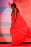 Cynthia Bailey walks the runway at the Go Red For Women Red Dress Collection 2015 Royalty Free Stock Photo