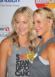 Cynthia Daniel & Brittany Daniel. LOS ANGELES, CA - SEPTEMBER 5, 2014: Cynthia Daniel & Brittany Daniel (right) at the 2014 Stand Up To Cancer Gala at the Dolby royalty free stock images