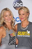 Cynthia Daniel & Brittany Daniel. LOS ANGELES, CA - SEPTEMBER 5, 2014: Cynthia Daniel & Brittany Daniel (right) at the 2014 Stand Up To Cancer Gala at the Dolby royalty free stock image