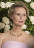 Cynthia Nixon. Actress Cynthia Nixon arrives on the red carpet at the 71st Annual Tony Awards to celebrate the best of Broadway theater on June 11, 2017.  The Royalty Free Stock Photography