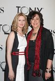 Cynthia Nixon and Lynne Meadow. Actress Cynthia Nixon and director Lynne Meadow arrive for the 66th Annual Tony Awards Meet the Nominees Press Reception at the Royalty Free Stock Photo