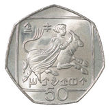 Cypern centmynt Royaltyfri Bild