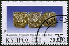 CYPERN - 2000: olika stycken för shower av smycken, serie smycken Royaltyfri Foto