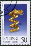CYPERN - 2000: olika stycken för shower av smycken, serie smycken Royaltyfria Bilder