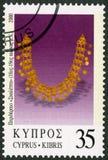 CYPERN - 2000: olika stycken för shower av smycken, serie smycken Arkivbild