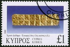CYPERN - 2000: olika stycken för shower av smycken, serie smycken Royaltyfria Foton