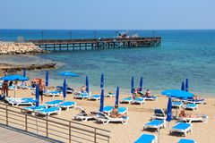 Cypern strand Royaltyfria Foton