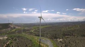 Cypern vindgeneratorer lager videofilmer