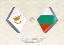 Cypern vs Bulgarien, liga C, grupp 3 Europa fotbollcompetiti Royaltyfri Illustrationer