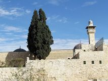 Cyprès 2012 de mosquée de Jérusalem Al-Aqsa Image libre de droits