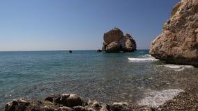 Cypr Aphrodite skały zdjęcie wideo