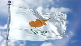 Cypr flaga w niebieskim niebie royalty ilustracja
