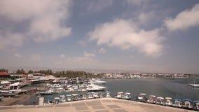 Cypr, Grecja, przyjemności łodzie, i łodzie rybackie w schronieniu, łodzie rybackie blisko mola, łódkowaty parking, A liczba zbiory wideo