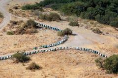 CYPR, GREECE/EUROPE - LIPIEC 21: Dwa linii ule w Cypr Zdjęcie Stock
