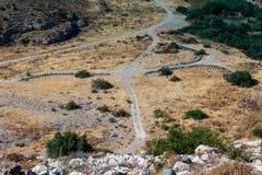 CYPR, GREECE/EUROPE - LIPIEC 21: Trzy linii ule w Cyp Zdjęcia Royalty Free