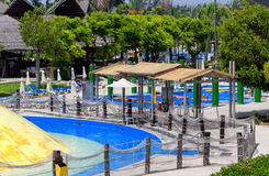CYPR, LIMASSOL - 14 2012 MAJ: Widok na waterpark zdjęcie royalty free
