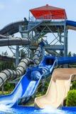 CYPR, LIMASSOL - 14 2012 MAJ: Widok na waterpark obrazy royalty free