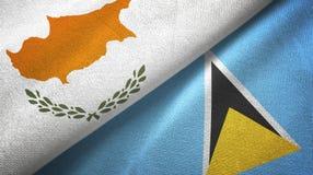Cypr Lucia i święty dwa flagi tekstylny płótno, tkaniny tekstura ilustracja wektor