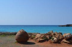 Cypr Morza Śródziemnomorskiego Brzegowy morze blisko Ayia Napa obraz stock