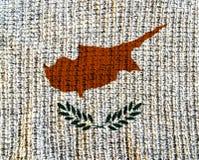 Cypr wełna Textured flaga - zdjęcia royalty free