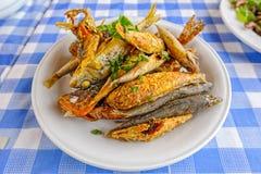 Cypr owoce morza Meze przy harbourside restauracją Zdjęcie Stock