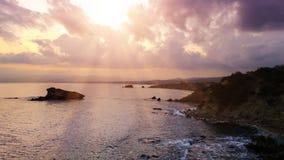 Cypr piękny wschód słońca Obrazy Royalty Free