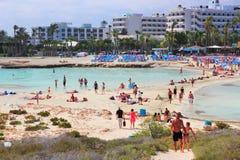 Cypr plaża Fotografia Royalty Free