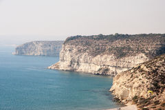 Cypr plażowy Cliifs Fotografia Royalty Free