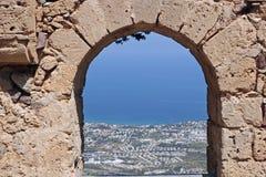 Cypr St Hilarion ` s kasztel obrazy stock