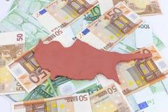 (pojęcia Cypr kryzys finansowy) Fotografia Royalty Free