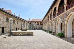 Cypr Troodos Monaster Kykkos Drugi podwórze obraz royalty free