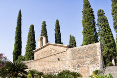 Cypress Balearic Majorca Churchyard Royalty Free Stock Photography
