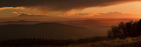 Cypress Hills Sunset Royalty Free Stock Photography