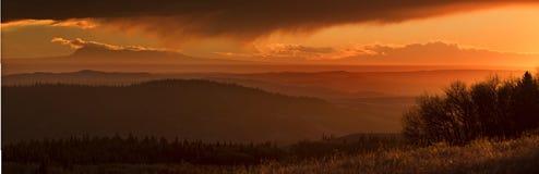 Cypress Hills Sunset Stock Image