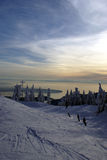 Cypress mountain seaview. Sea view from the downhill skiing slope of Mountain Cypress West Vancouver Royalty Free Stock Photo