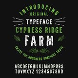 Cypress Ridge Farm vektor illustrationer