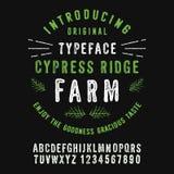 Cypress Ridge Farm vector illustration