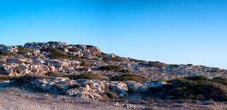 Cyprian wild rocky landscape Royalty Free Stock Photo