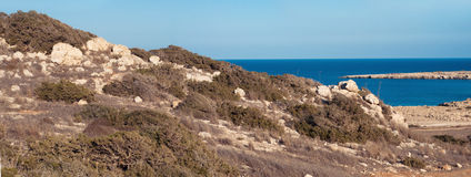 Cyprian wild rocky landscape Royalty Free Stock Photography
